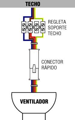 conexion ventilador de techo